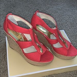 Watermelon Colored MK wedges